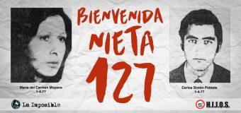 La nieta 127 nació en la ESMA: es hija de María del Carmen Moyano y Carlos Poblete
