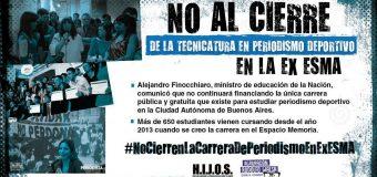 No cierren la Carrera de Periodismo en la ex ESMA: sigue el reclamo